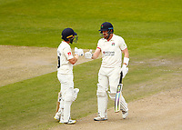 29th May 2021; Emirates Old Trafford, Manchester, Lancashire, England; County Championship Cricket, Lancashire versus Yorkshire, Day 3; Josh Bohannon and Danny Lamb of Lancashire shared a 150 partnership for the seventh wicket