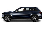 Car Driver side profile view of a 2020 Mercedes Benz GLC AMG-Line 5 Door SUV Side View