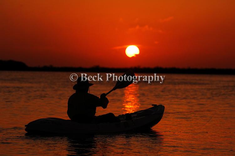 Yucatan Sunset with Kayak