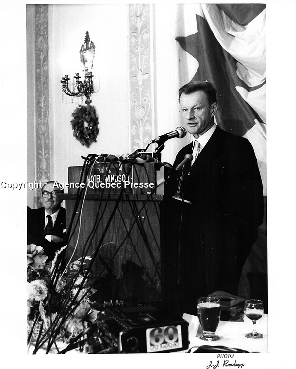 File Photo  -  Zbigniew BREZINSKI,<br /> December 5, 1980