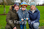 Enjoying the playground in the Listowel town park on Sunday, l to r: Conor, Ed and Tracy Nepean