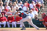 March 10,2009: Infielder Wilson Valdez (8) of the Cleveland Indians at Tempe Diablo Stadium in Tempe, AZ.  Photo by: Chris Proctor/Four Seam Images