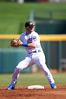 Mesa Solar Sox Ian Happ (12), of the Chicago Cubs organization, during a game against the Scottsdale Scorpions on October 21, 2016 at Sloan Park in Mesa, Arizona.  Mesa defeated Scottsdale 4-3.  (Mike Janes/Four Seam Images)