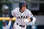 #5 Hiruta Natsuki of Japan runs after bating during the BFA Women's Baseball Asian Cup match between Japan and Hong Kong at Sai Tso Wan Recreation Ground on September 5, 2017 in Hong Kong. Photo by Marcio Rodrigo Machado / Power Sport Images