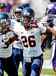 Virginia Cavaliers cornerback Maurice Canady (26) in action during the game between the Virginia Cavaliers and the TCU Horned Frogs  at the Amon G. Carter Stadium in Fort Worth, Texas. TCU defeats Virginia 27 to 7...
