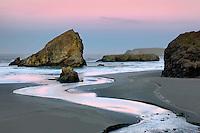 Sunrise at Cape Sabastian with Myers Creek. Oregon