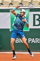 3rd October 2020, Roland Garros, Paris, France; French Open tennis, Roland Garros 2020; Tennis - Roland Garros  2020 - Matteo Berrettini - Italy