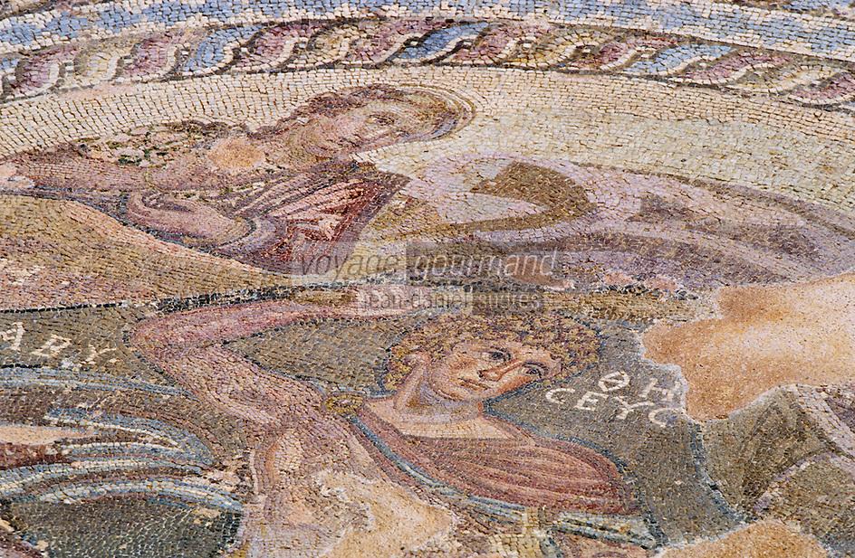 Europe/Chypre/Paphos : Mosaïque de Paphos dans la maison de Thésée