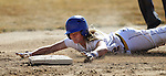Western Nevada Wildcat Jennie Quam steals second in a college softball game against Colorado Northwestern in Carson City, Nev., on Friday, Feb. 22, 2013..Photo by Cathleen Allison
