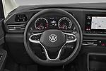 Car pictures of steering wheel view of a 2021 Volkswagen Caddy Maxi-Life 5 Door Mini Mpv Steering Wheel