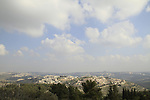 Israel, Jerusalem mountains, a view of Jerusalem from Nabi Samuel