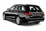 Car pictures of rear three quarter view of a 2014 Mercedes Benz C-CLASS Avantgarde 5 Door Wagon 2WD Angular Rear