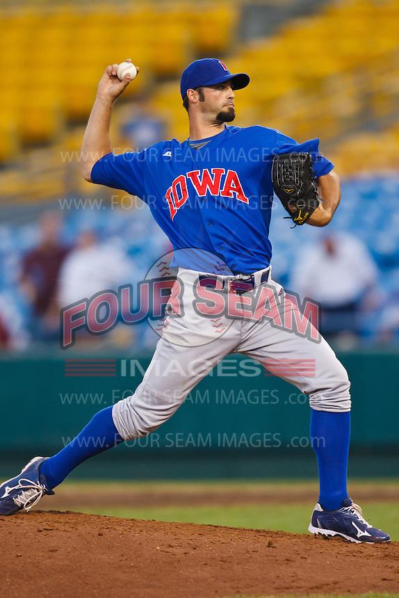 July 2nd, 2010 Justiin Berg (36) in action during MiLB play between the Iowa Cubs and the Omaha Royals. Iowa Cubs won 5-3 at Rosenblatt Stadium, Omaha Nebraska.