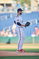 Reno Aces starting pitcher Alex Young (15) looks to the plate against the Nashville Sounds at Greater Nevada Field on June 5, 2019 in Reno, Nevada. The Aces defeated the Sounds 3-2. (Stephen Smith/Four Seam Images)
