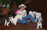 06-30-11 Robin Strasser with her puppies & their mom and dad
