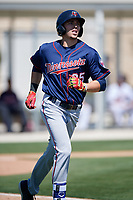 Minnesota Twins Colton Burns (25) during a Minor League Spring Training game against the Tampa Bay Rays on March 15, 2018 at CenturyLink Sports Complex in Fort Myers, Florida.  (Mike Janes/Four Seam Images)