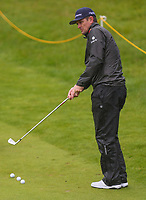 170719 | The 148th Open - Wednesday Practice<br /> <br /> Justin Rose of England on the 18th during practice for the 148th Open Championship at Royal Portrush Golf Club, County Antrim, Northern Ireland. Photo by John Dickson - DICKSONDIGITAL