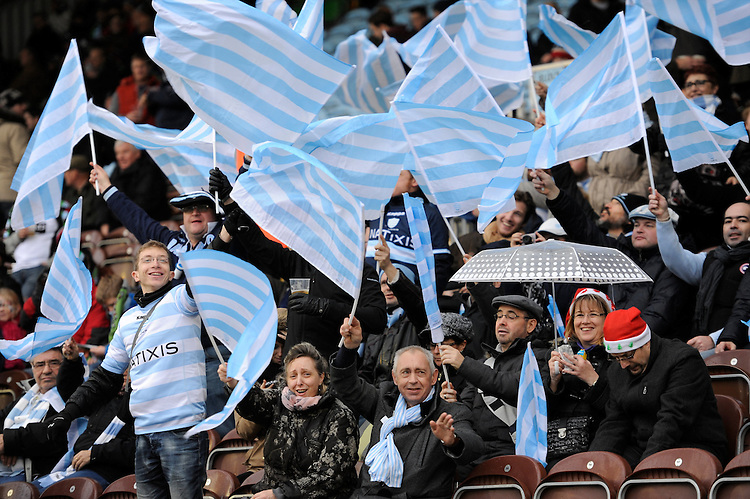 Racing Metro 92 Fans during the Heineken Cup match between Harlequins and Racing Metro 92 at the Twickenham Stoop on Sunday 15th December 2013 (Photo by Rob Munro)
