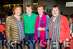 Maureen Guerin, Kit Ryan, Poppy Creegan and Patsy O'Shea enjoying the Boherbee/John Mitchels Active retired Christmas Party in John Mitchels on Saturday.