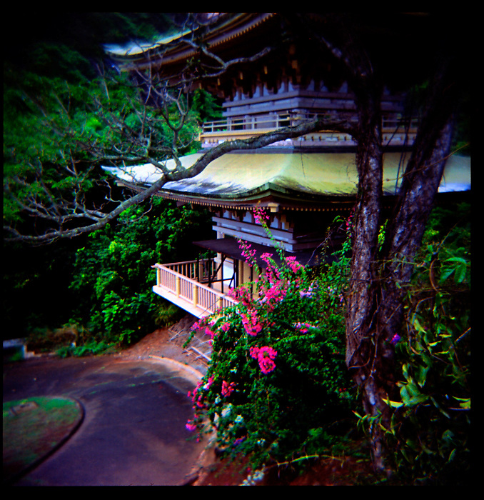 Japanese Temple shot with Holga by Liisa Roberts.