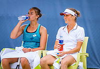Rosmalen, Netherlands, 13 June, 2019, Tennis, Libema Open, Womans doubles: Lesley Kerkhove (NED) and Bibiane Schoofs (NED) (R)<br /> Photo: Henk Koster/tennisimages.com