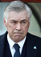 Football, Serie A: AS Roma - SSC Napoli, Olympic stadium, Rome, March 31, 2019. <br /> Napoli's coach Carlo Ancelotti prior to to the Italian Serie A football match between Roma and Napoli at Olympic stadium in Rome, on March 31, 2019.<br /> UPDATE IMAGES PRESS/Isabella Bonotto