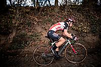 Lotte Kopecky (BEL/Lotto-Soudal) up the infamous Koppenberg .<br /> <br /> Koppenbergcross 2020 (BEL)<br /> women's race<br /> <br /> ©kramon