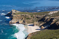 South Africa.  Cape of Good Hope, Atlantic Ocean, seen from Cape Point.