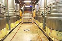 stainless steel tanks dom du vieux telegraphe chateauneuf du pape rhone france