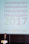 King Felipe VI of Spain during the delivery of the accreditations to the new ambassadors of the Marca España 2017 at Reina Sofia Museum in Madrid. March 14, 2017. (ALTERPHOTOS/Borja B.Hojas)