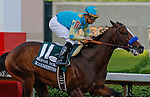 Bodemeister #11 and Mike Smith winner of the Arkansas Derby crossing the finish line.(Justin Manning/Eclipse Sportswire)(Justin Manning/Eclipse Sportswire)