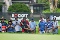 4th July 2021, Detroit, MI, USA;  Cam Davis (AUS) chips up on to 1 during the Rocket Mortgage Classic Rd4 at Detroit Golf Club on July 4,