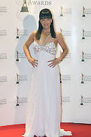 12/2/11 Geri May, Winning Streak on the red carpet at the 8th Irish Film and Television Awards at the Convention centre in Dublin. Picture:Arthur Carron/Collins