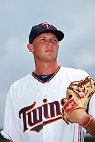 GCL Twins pitcher Blayne Enlow (68) poses for a photo after the first game of a doubleheader against the GCL Rays on July 18, 2017 at Charlotte Sports Park in Port Charlotte, Florida.  GCL Twins defeated the GCL Rays 11-5 in a continuation of a game that was suspended on July 17th at CenturyLink Sports Complex in Fort Myers, Florida due to inclement weather.  (Mike Janes/Four Seam Images)