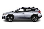Car Driver side profile view of a 2021 Subaru Crosstrek - 5 Door SUV Side View