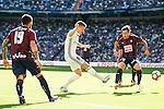 Real Madrid's player Toni Kroos and Eibar FC's player Antonio Luna and Ruben Peña Jimenez during a match of La Liga Santander at Santiago Bernabeu Stadium in Madrid. October 02, Spain. 2016. (ALTERPHOTOS/BorjaB.Hojas)
