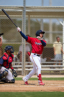 FCL Twins Emmanuel Rodriguez (4) hits a home run during a game against the FCL Boston Red Sox on July 3, 2021 at CenturyLink Sports Complex in Fort Myers, Florida.  (Mike Janes/Four Seam Images)