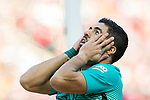 Luis Suarez of FC Barcelona reacts during their La Liga match between Atletico de Madrid and FC Barcelona at the Santiago Bernabeu Stadium on 26 February 2017 in Madrid, Spain. Photo by Diego Gonzalez Souto / Power Sport Images