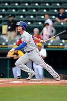 St. Lucie Mets outfielder Charley Thurber #20 during a game against the Bradenton Marauders on April 12, 2013 at McKechnie Field in Bradenton, Florida.  St. Lucie defeated Bradenton 6-5 in 12 innings.  (Mike Janes/Four Seam Images)