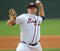 Pitcher Chris Masters (32) of the Rome Braves at the 2010 South Atlantic League All-Star Game on Tuesday, June 22, 2010, at Fluor Field at the West End in Greenville, S.C. Photo by: Tom Priddy/Four Seam Images