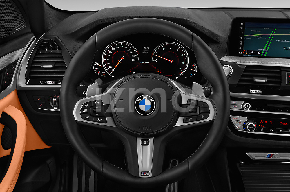 Car pictures of steering wheel view of a 2018 BMW X3 base 5 Door SUV