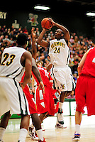 21 January 2010: University of Vermont Catamount guard Maurice Joseph, a Senior from Montreal, Quebec, in action during a game against the Stony Brook University Seawolves at Patrick Gymnasium in Burlington, Vermont. The Catamounts fell to the Seawolves 65-60 in the America East matchup. Mandatory Credit: Ed Wolfstein Photo