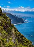 Spanien, Kanarische Inseln, Teneriffa, Blick ueber Nordkueste und das Orotavatal zum schneebedeckten Pico del Teide (3.718 m) | Spain, Canary Islands, Tenerife, north coast, Orotava Valley and snow covered Pico del Teide (3.718 m)
