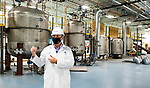 WATERBURY, CT-010721JS03- Don Cullen, Senior Vice President for Innovation talks about the company progress during a tour of Drew Marine in Waterbury on Thursday. The company is expected to hire 50 people on staff by the end of the year and begin chemicals production in Waterbury by the fall. <br /> Jim Shannon Republican-American