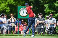 5th June 2021; Dublin, Ohio, USA; Adam Scott (AUS) watches his tee shot on 1 during the Memorial Tournament Rd3 at Muirfield Village Golf Club on June 5, 2021 in Dublin, Ohio.