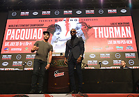 LAS VEGAS - JULY 17: Omar Figueroa and Yordenis Ugas attend the final press conference for the PBC on Fox Sports Pay-Per-View at the MGM Grand on July 17, 2019 in Las Vegas, Nevada. (Photo by Frank Micelotta/Fox Sports/PictureGroup)