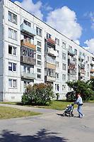 Wohnblocks  in Liepaja-Karosta, Lettland, Europa