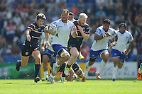 Jack Lam of Samoa finds space during Match 6 of the Rugby World Cup 2015 between Samoa and USA - 20/09/2015 - Brighton Community Stadium, Brighton <br /> Mandatory Credit: Rob Munro/Stewart Communications