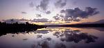 Sunrise on Okarito Lagoon in  Westland New Zealand.