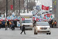 Manifestation FIQ - FAE, 27 janvier 2015<br /> <br /> PHOTO : Agence Quebec Presse